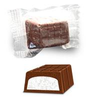 Sabor chocolate ao leite com recheio de coco