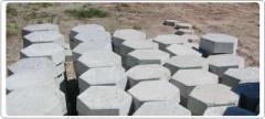 Lajota de concreto sextavada