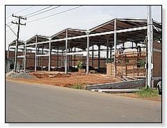 Estrutura pré-moldada de pavilhões