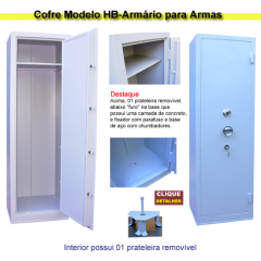 HB-016-Cofre para Armas Modelo Armário 01