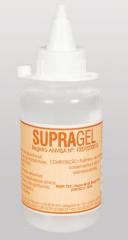 Gel Contato Supragel, auxilia por meio de contato para condutividade sônica durante os procedimentos de ultra-sonografia.