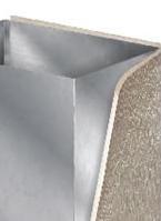 Placas para o isolamento de dutos - placas aluminizadas ou com alumínio Joongbo atuam como isolante térmico e acústico, de fácil manuseio e aplicação.