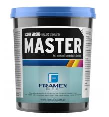 Emulsão Master - emulsão fotográfica utilizada em estamparias e serigrafias no revestimento de tela e gravação da matriz serigráfica para uso em processos de impressão com tintas a base d'água e plastisóis.