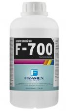 F-700 - adesivo utilizado na colagem de tecidos em poliéster, nylon e aço, esticados sob altas tensões em quadros de alumínio, madeira e ferro, para impressões em serigrafia a base de água e plastisol.