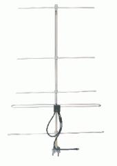 Antena direcional tipo Yagi, fabricada em liga