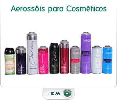 Embalagens especiais para aerossóis e cosméticos.