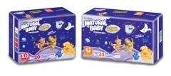 Fraldas Natural Baby Premium Noturna e Diurna.
