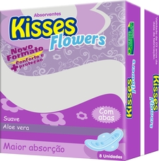 Absorventos Kisses Flowers