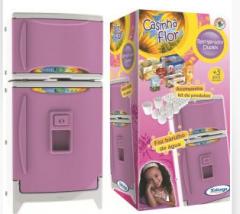 Refrigerador Duplex Casinha Flor com Som