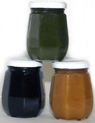 Geléias de Figo, de Jabutcaba e de Laranja.
