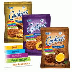 Cookies Integrais -  laranja com cacau, mamão com