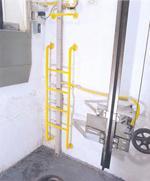 Escada de acesso ao poço
