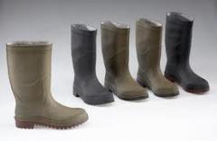Botas de pano-couro