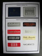 Etiquetas quadradas