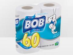 Papel Higiênico BOB Rolão 60 metros 16x4 Neutro