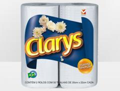 Toalha de papel Clarys folha dupla 12x2 50 folhas