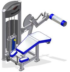 Leg Curl Machine (X-Fit)