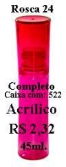 Frasco em Acrílico, 45ml.
