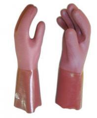 Luvas de PVC