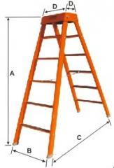 """Escadas em """"A"""" - Degráus de"""