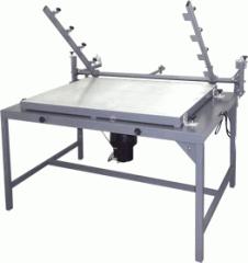 Impressora plana a vacuo sem rodo dirigível