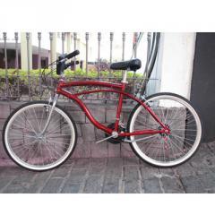 Beach Bike 18V Aluminio Vermelho aro 26