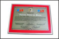 Diplomas em Aço Escovado