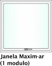 Janela Maxim-ar em PVC
