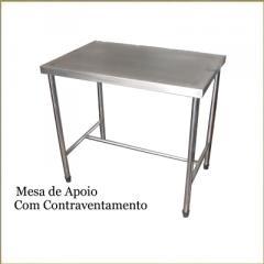 Mesas e Tampos com cubas em aço inox