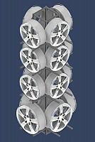 Expositor para rodas