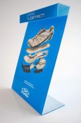 Expositor de calçados em acrilico com leds