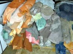 Artigos de pele para confecção do calçado