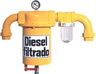 Filtro de linha para filtragem de combustíveis