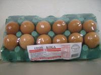Ovos Vermelho 1 dúzia - Pvc