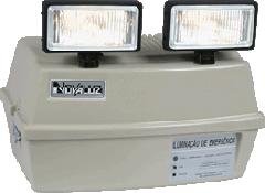 Bloco autônomo com dois projetores de 55 wats