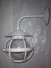Arandela de Aluminio c/ Globo Transparente