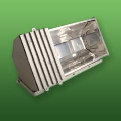 Luminária tipo projetor.