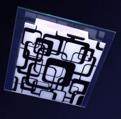 Plafom quadrado em alumínio branco