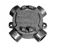 Caixa redonda em liga de alumínio fundido