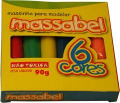 Massa p/modelar c/6 cores 90 grs