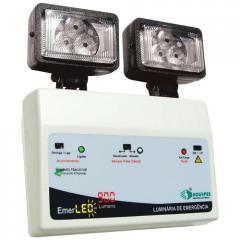 Iluminação de emergência LED 2x9W c/ bateria