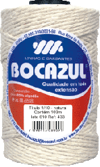 Barbante Bocazul tubete natural 200g