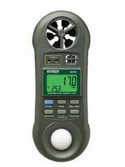 Medidor de luz de anemômetro higrotérmico