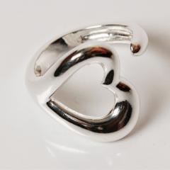Anel banho de prata coração