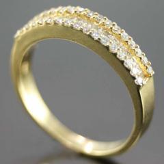 Porta Aliança de Ouro Amarelo e Diamantes
