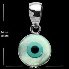 Pingente de prata olho grego