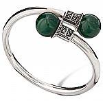 Bracelete de Prata com Ágata Verde