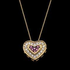Gargantilha em ouro 18K com diamantes