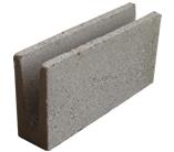 Canaleta de concreto simples para alvenaria