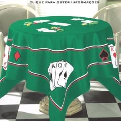 Toalha de Mesa para Jogo Las Vegas Veludo